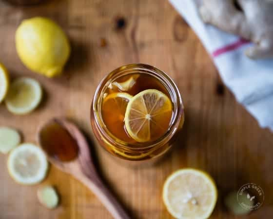 Lemon Ginger and Honey home remedy for cough and cold