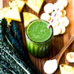 Healthy Coconut Oil Smoothie with pineapple and banana
