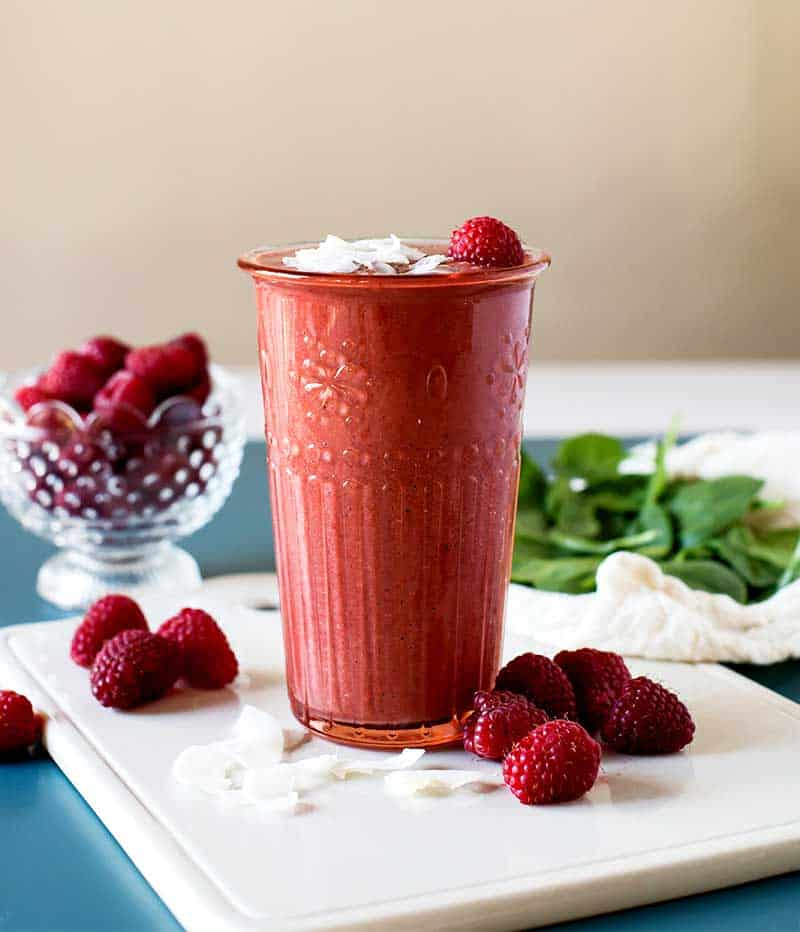 Raspberry spinach smoothie recipe