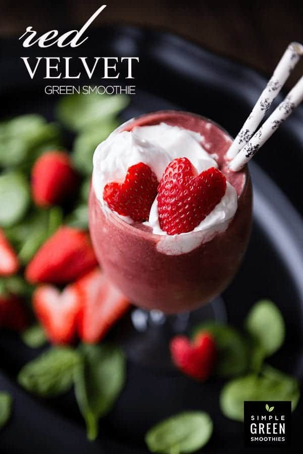 Red Velvet Green Smoothie | SimpleGreenSmoothies.com