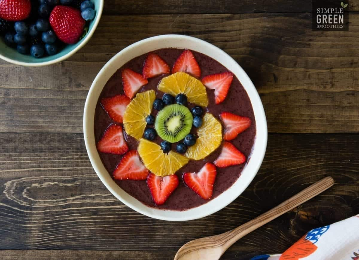 Rainbow Love Green Smoothie Bowl Recipe | SimpleGreenSmoothies.com