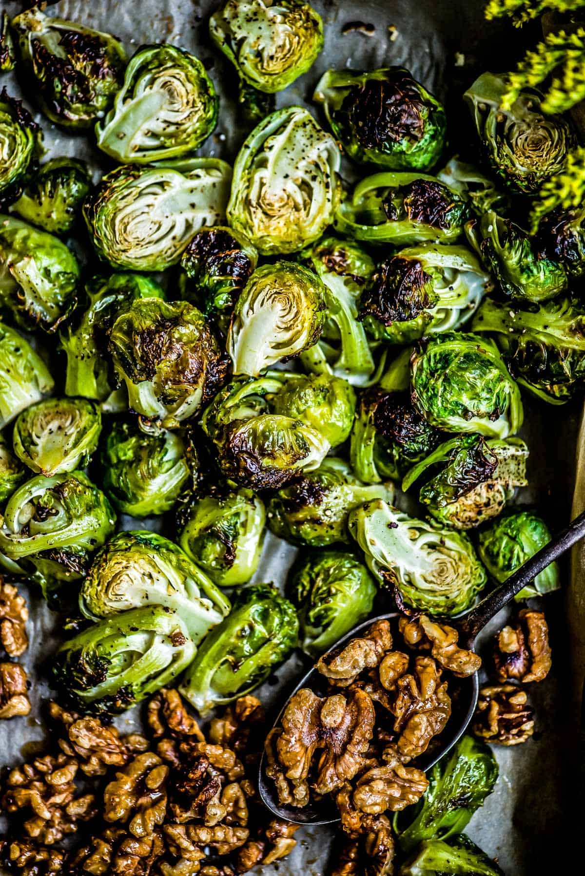 Brussels sprouts with glazed walnuts are the perfect side dish