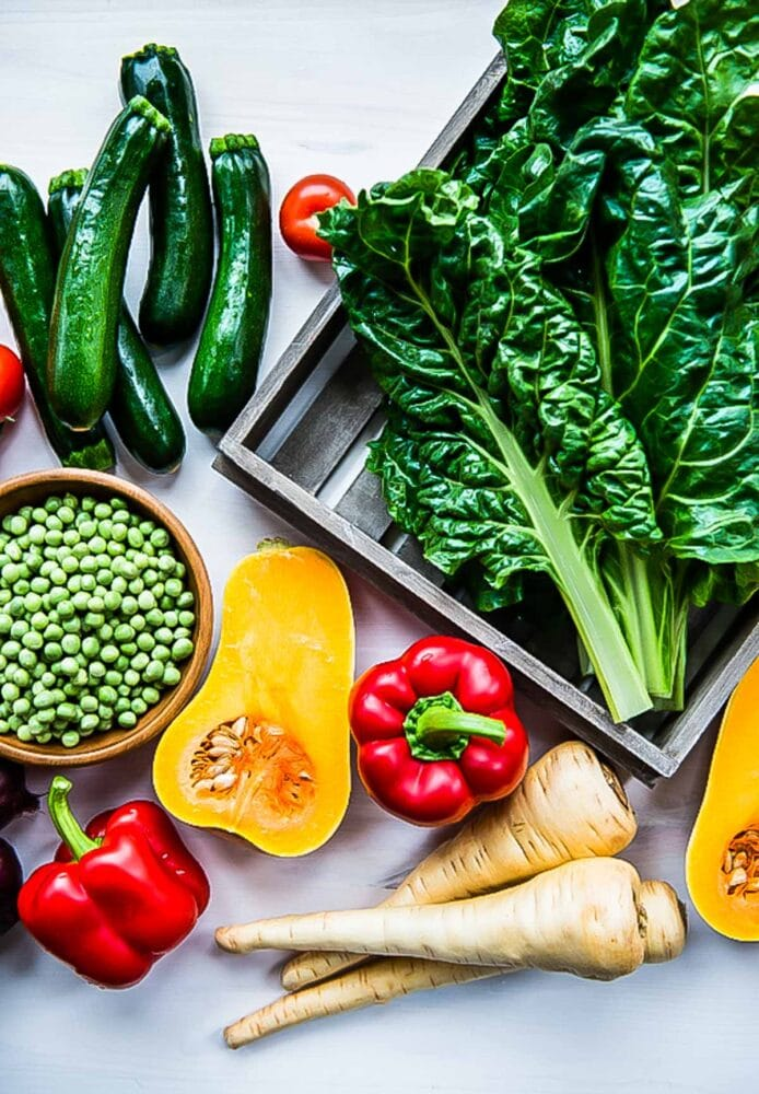 Nutrient rich veggies for green smoothies