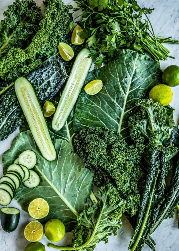 Leafy green whole food smoothies