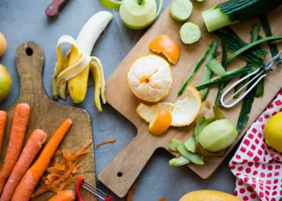 Which vegetable and fruit peels are okay to eat