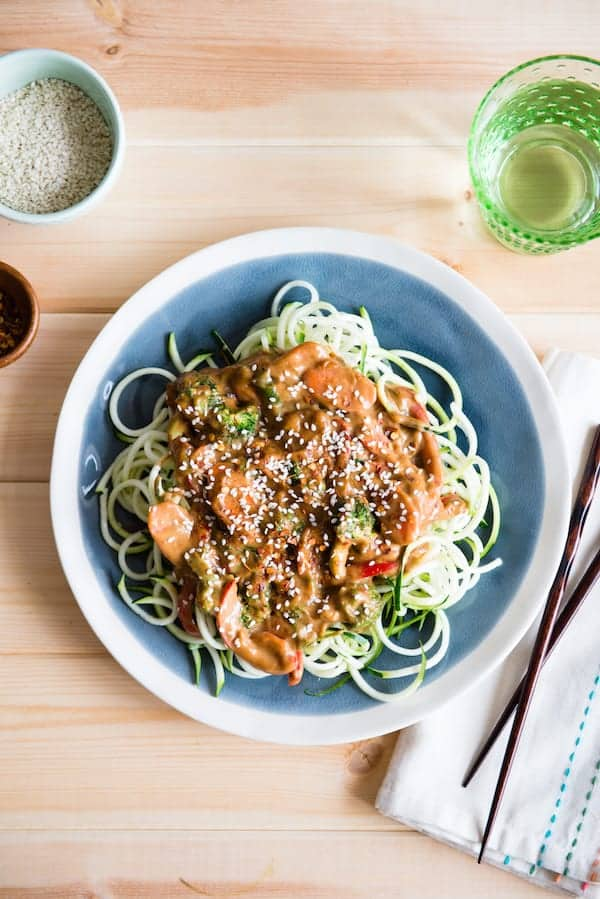 Almond Butter Zoodles recipe
