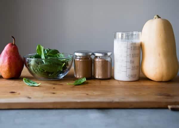 Warm smoothie ingredients
