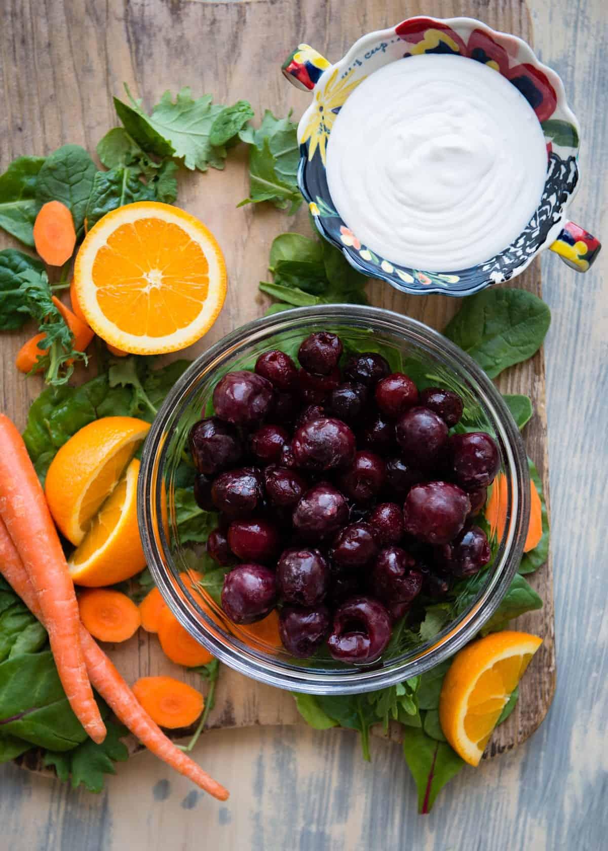 Paleo smoothie recipe with cherries