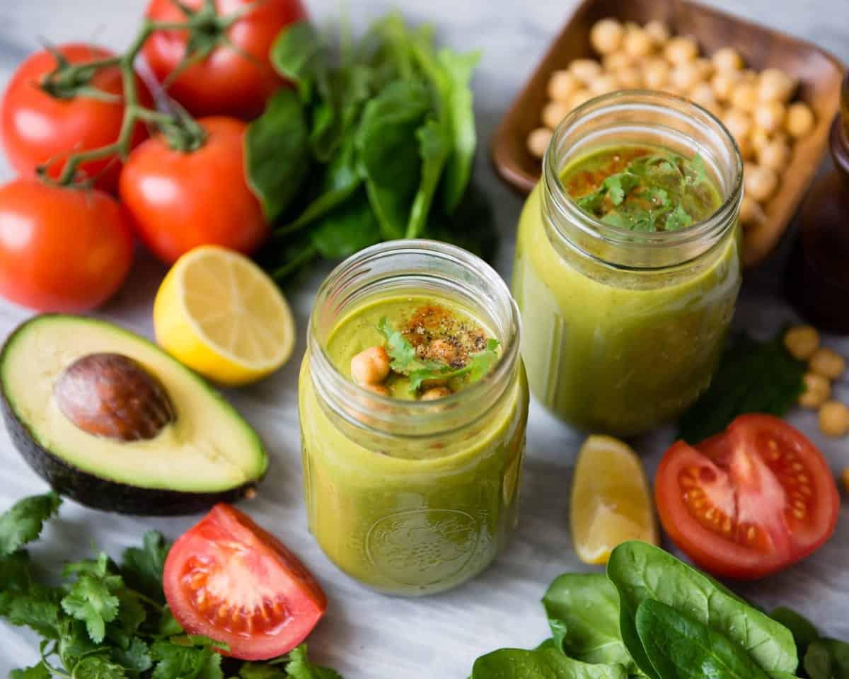 high protein veggie smoothie