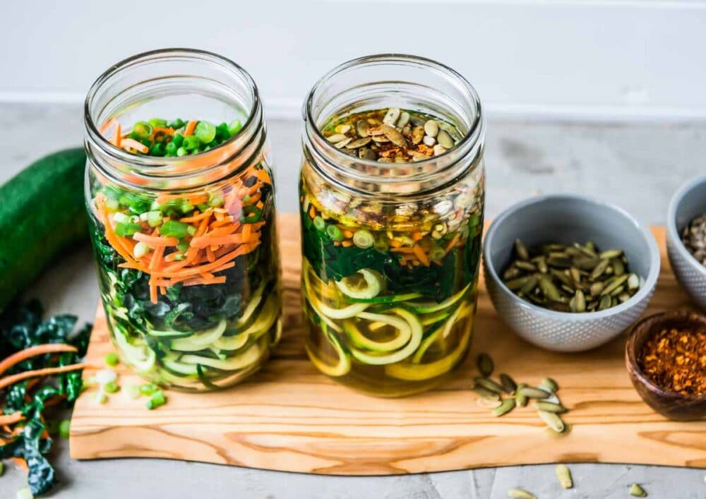 Zoodles in a jar