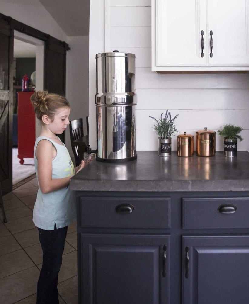 Using a Berkey water filter system