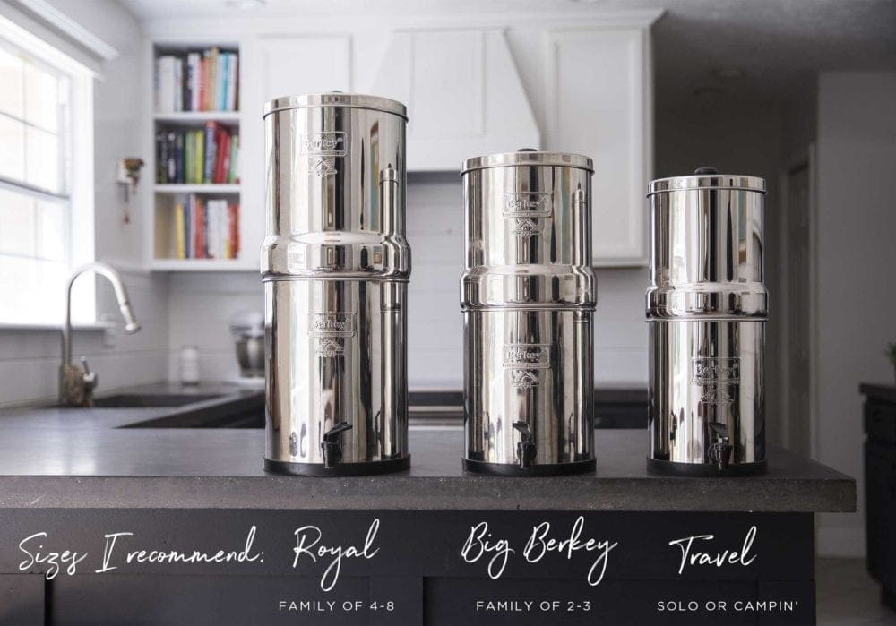 Different options with a Berkey Water System- Simple Green Smoothies
