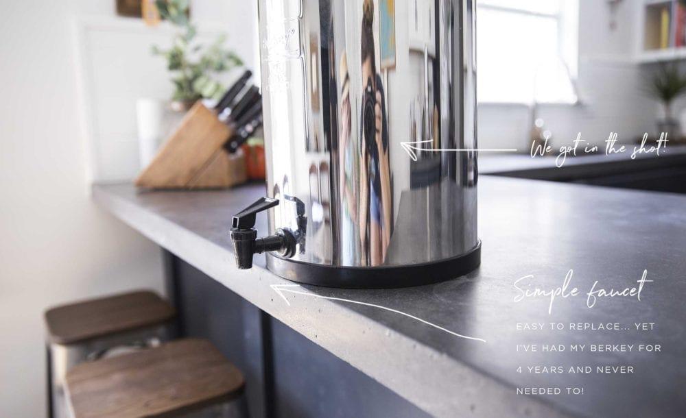 Berkey water dispenser setup - Simple Green Smoothies