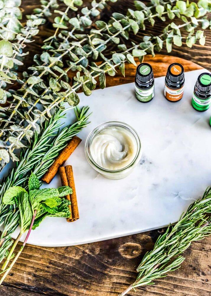 essential oils for homemade vapor rub