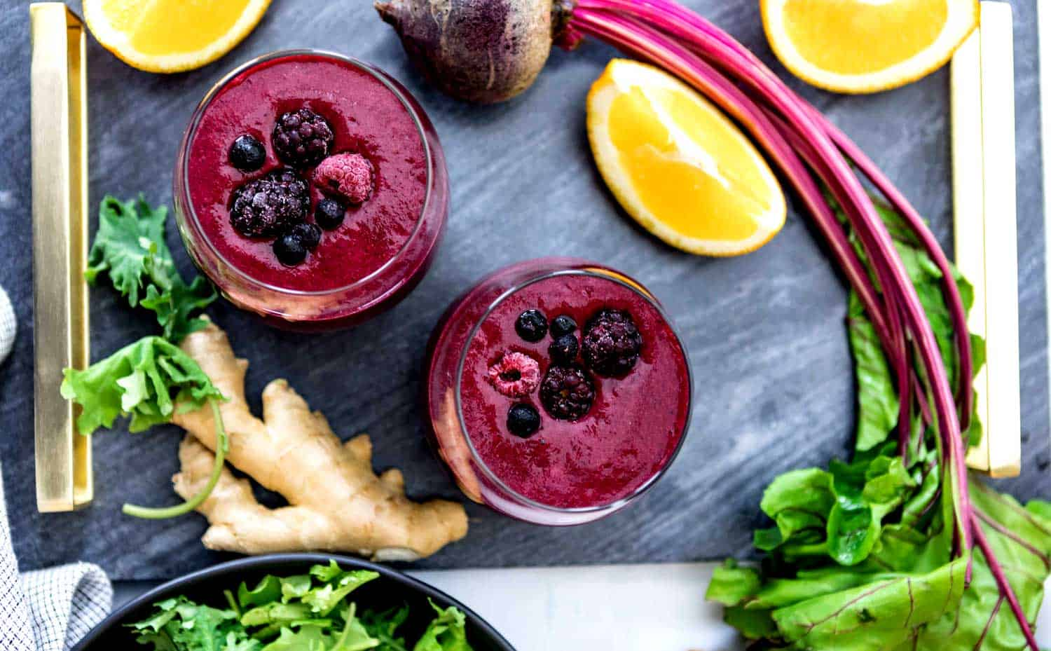 Anti Inflammatory Smoothie Recipe with ginger and beets