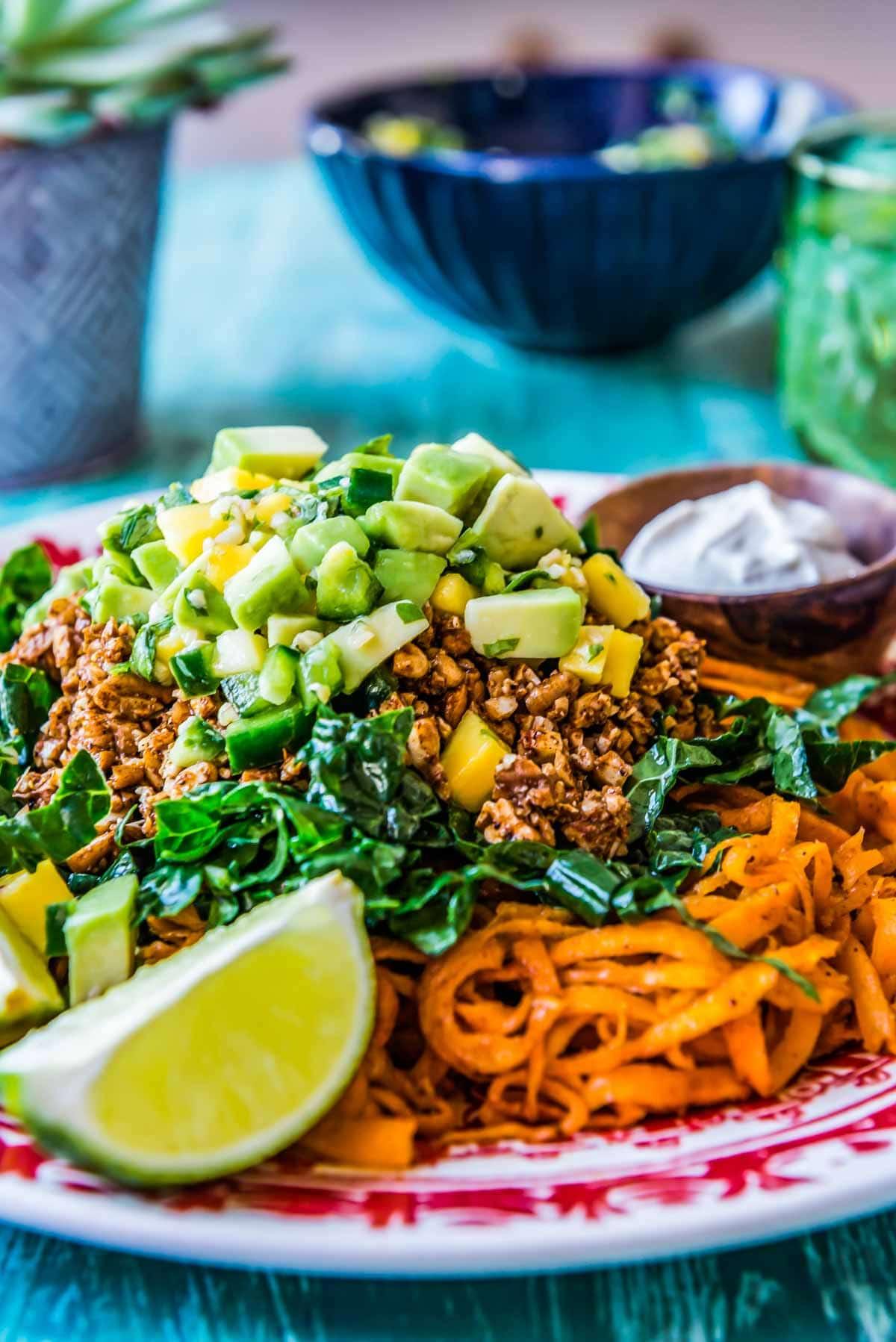 delicious vegan taco salad