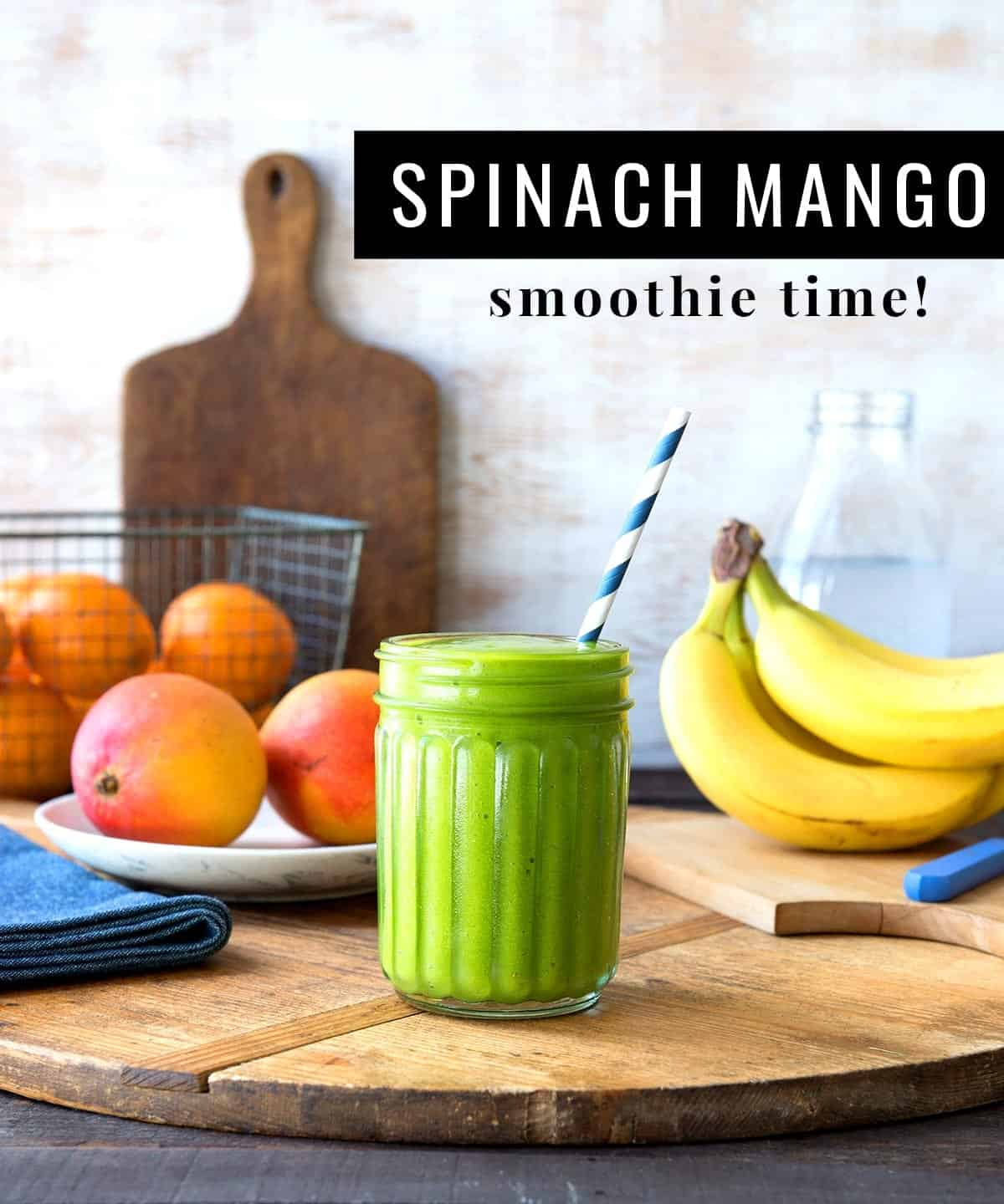 Simple Mango Spinach Smoothie Recipe | Simple Green Smoothies