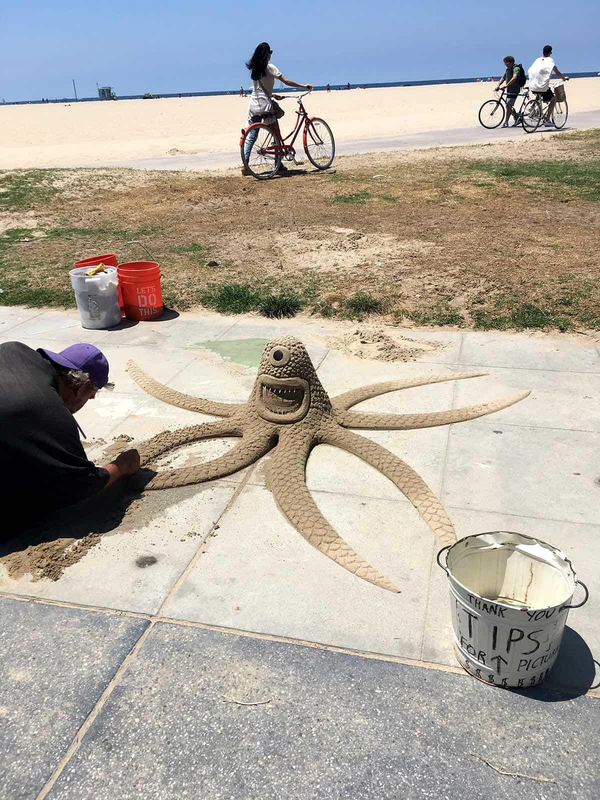 LA beach sand sculptures