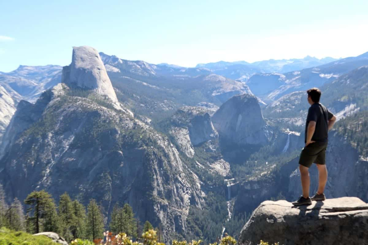 Contemplating the views in Yosemite National Park