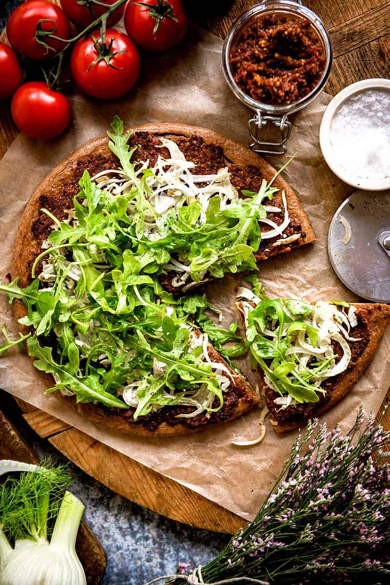 Savory plant based pizza