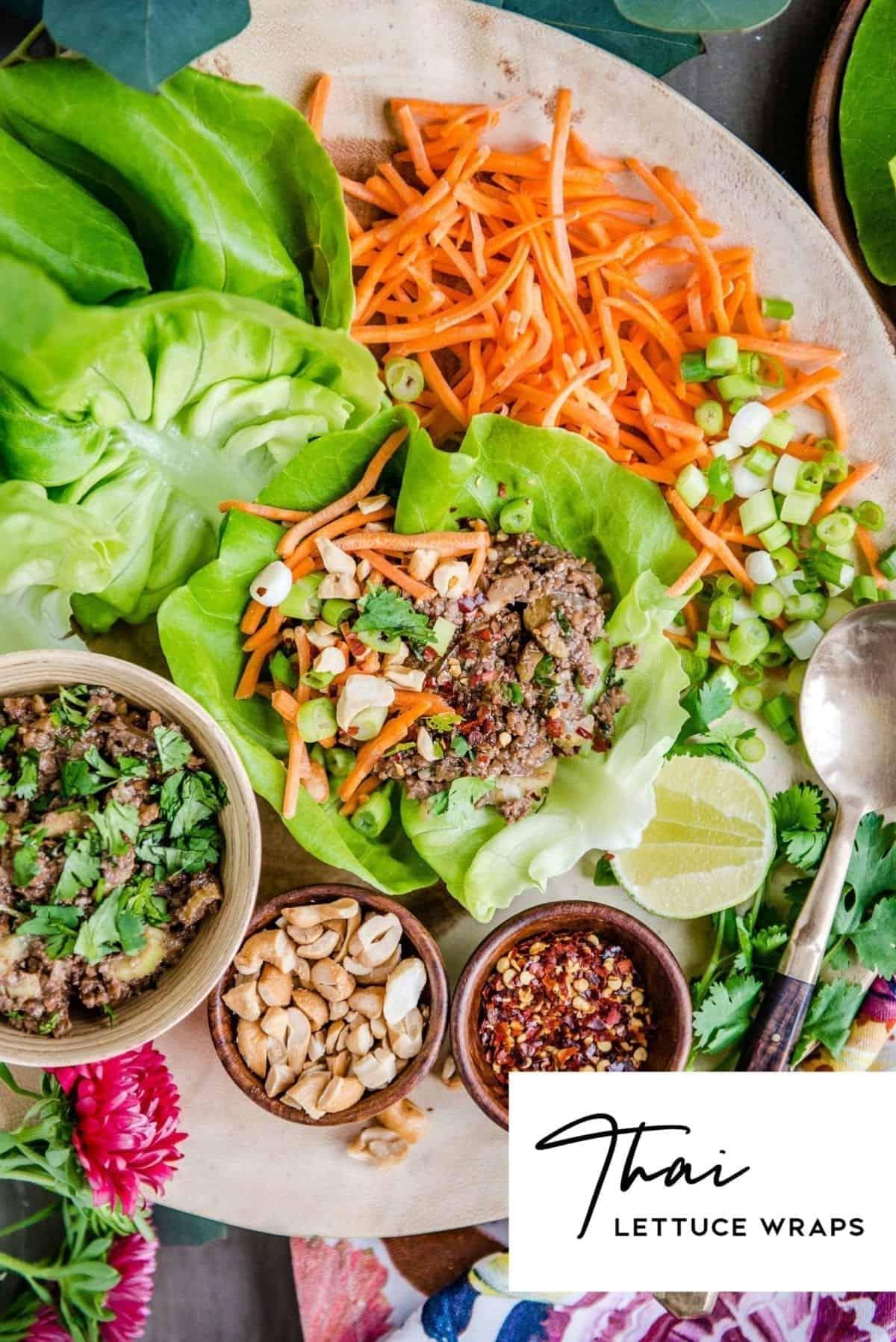 thai lettuce wraps vegan recipe