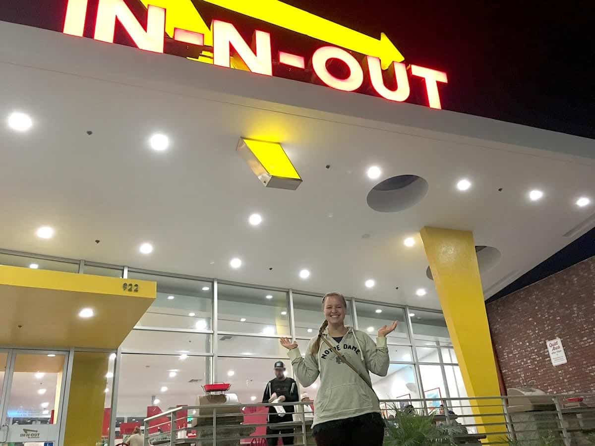 First time eating at In N Out