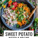 sweet potato noodles with thai sauce. gluten free noodle recipe