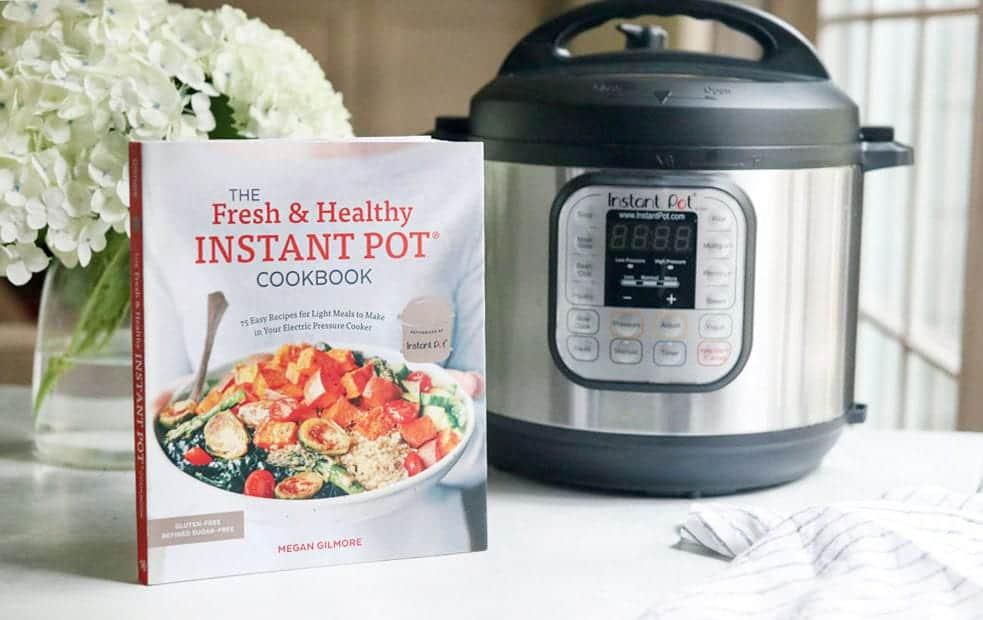 wild rice soup made in the instant pot with Megan Gilmore's new cookbook