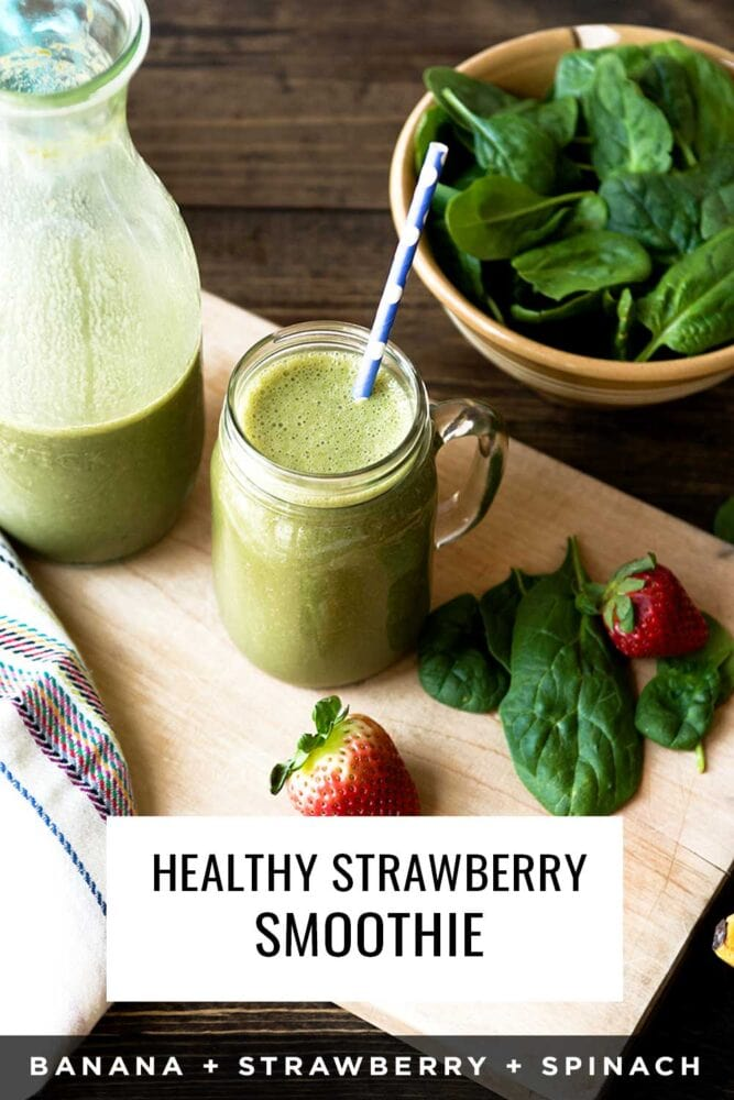 Strawberry banana green smoothie