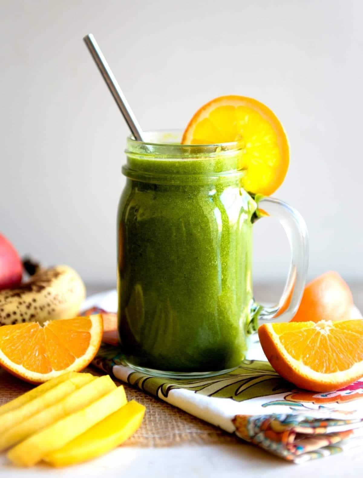 Green smoothie recipe with mango