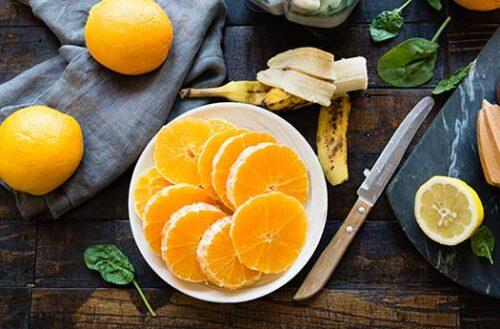 step 1 for orange smoothe