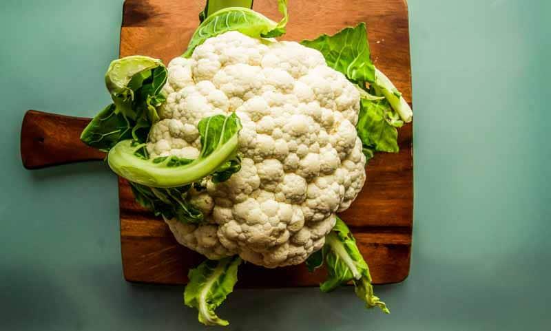 Cauliflower in a smoothie bowl