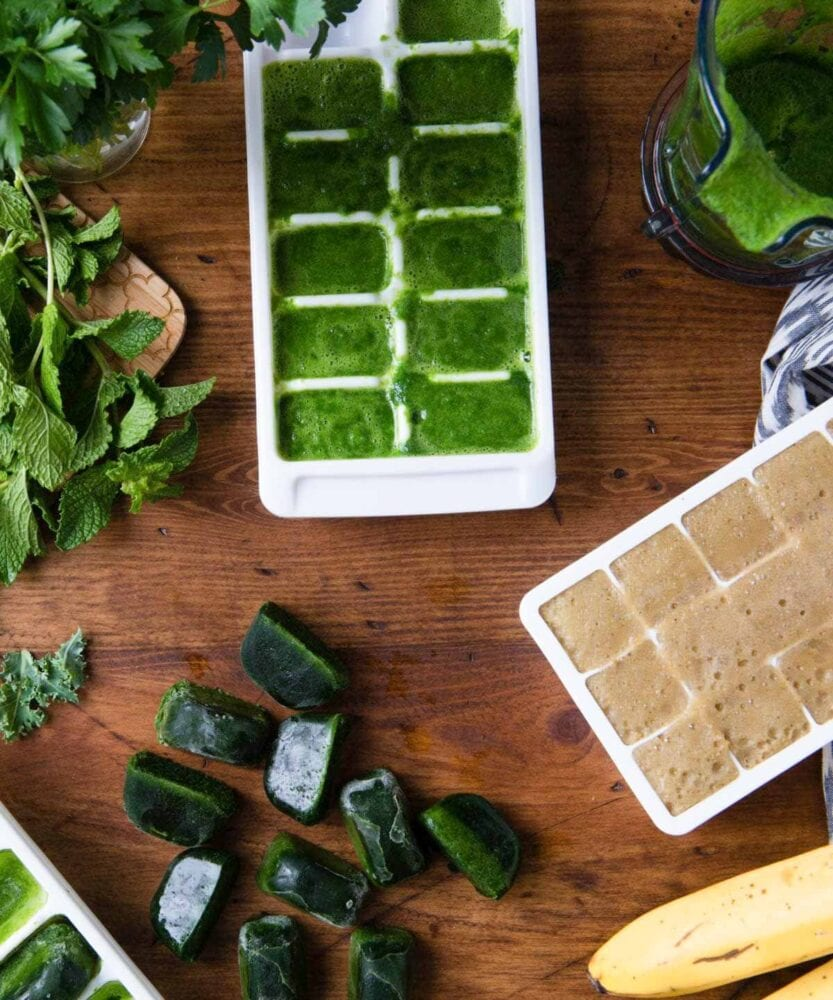 how to freeze fresh spinach