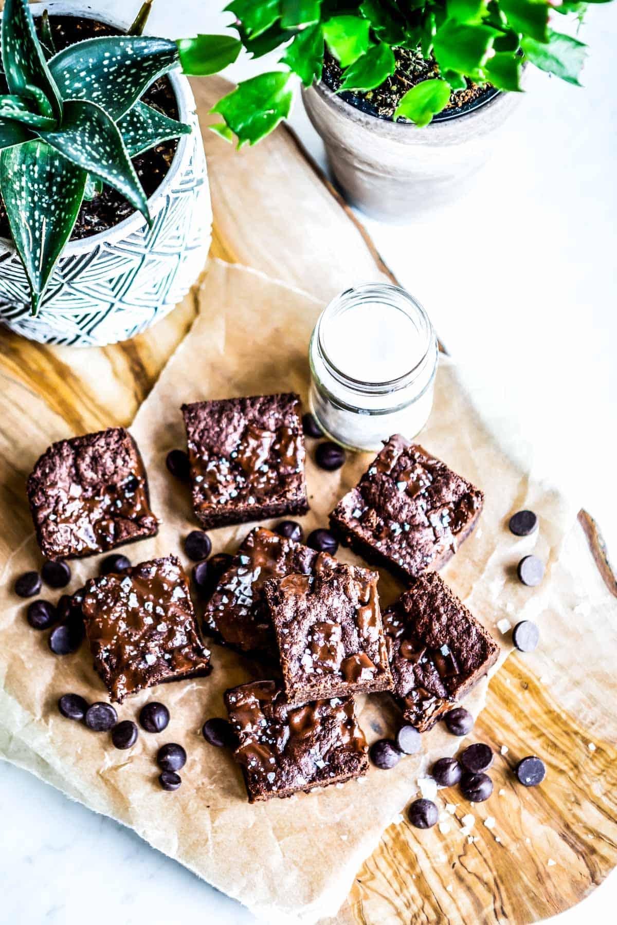 naturally sweetened homemade gluten free brownies