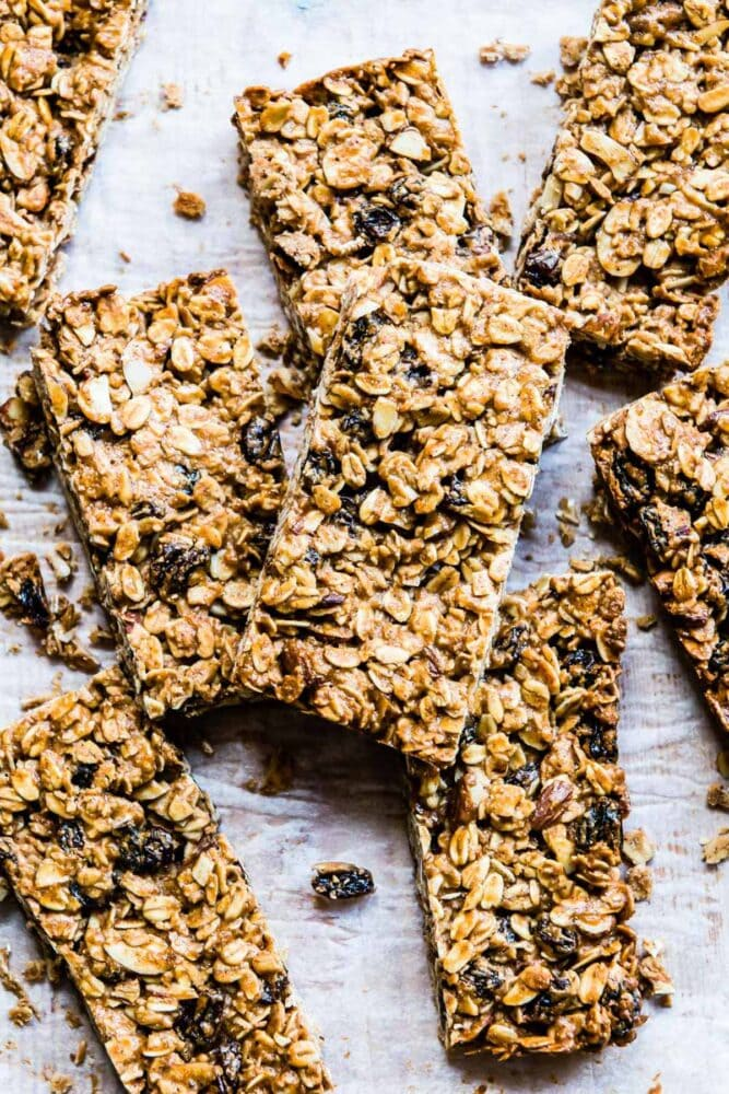 homemade granola bar healthy snack for weight loss