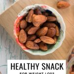 Healthy snack recipe for weight loss with almonds and cinnamon.
