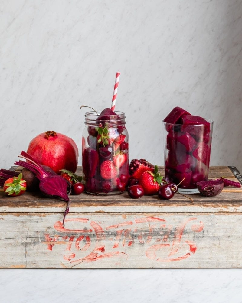 Pomegranate Beet Smoothie Setup