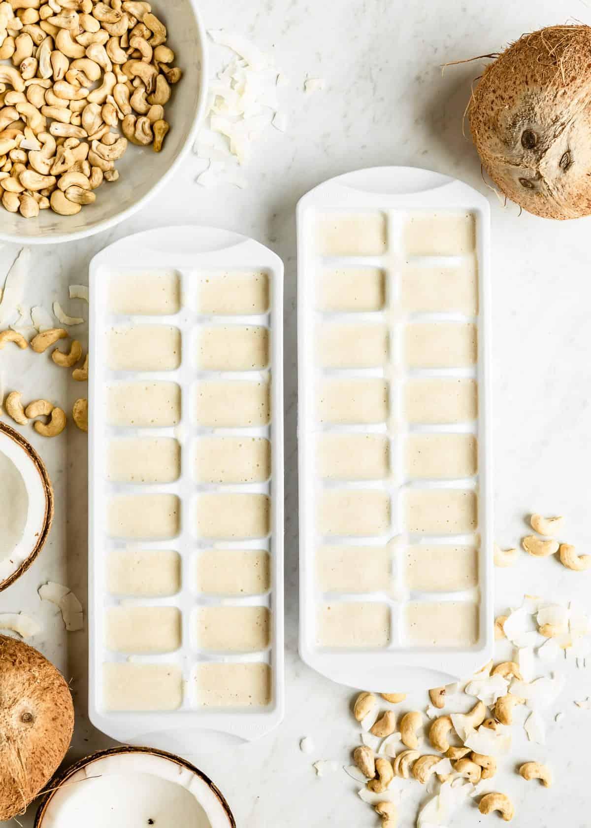 coconut milk smoothie cubes