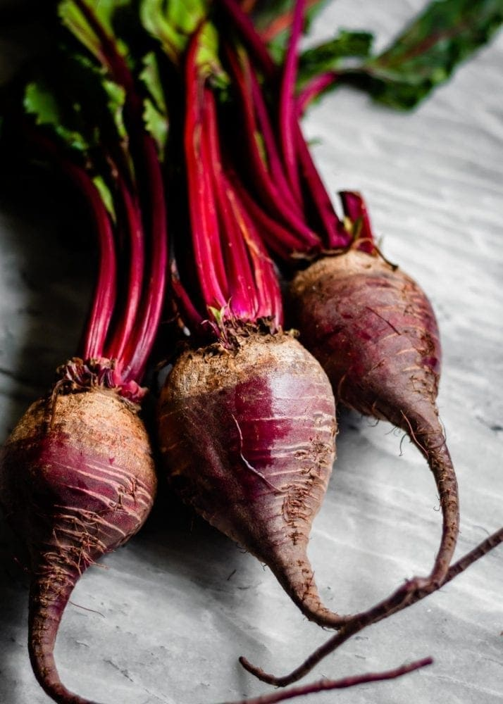 Red Beets that are high in antioxidants