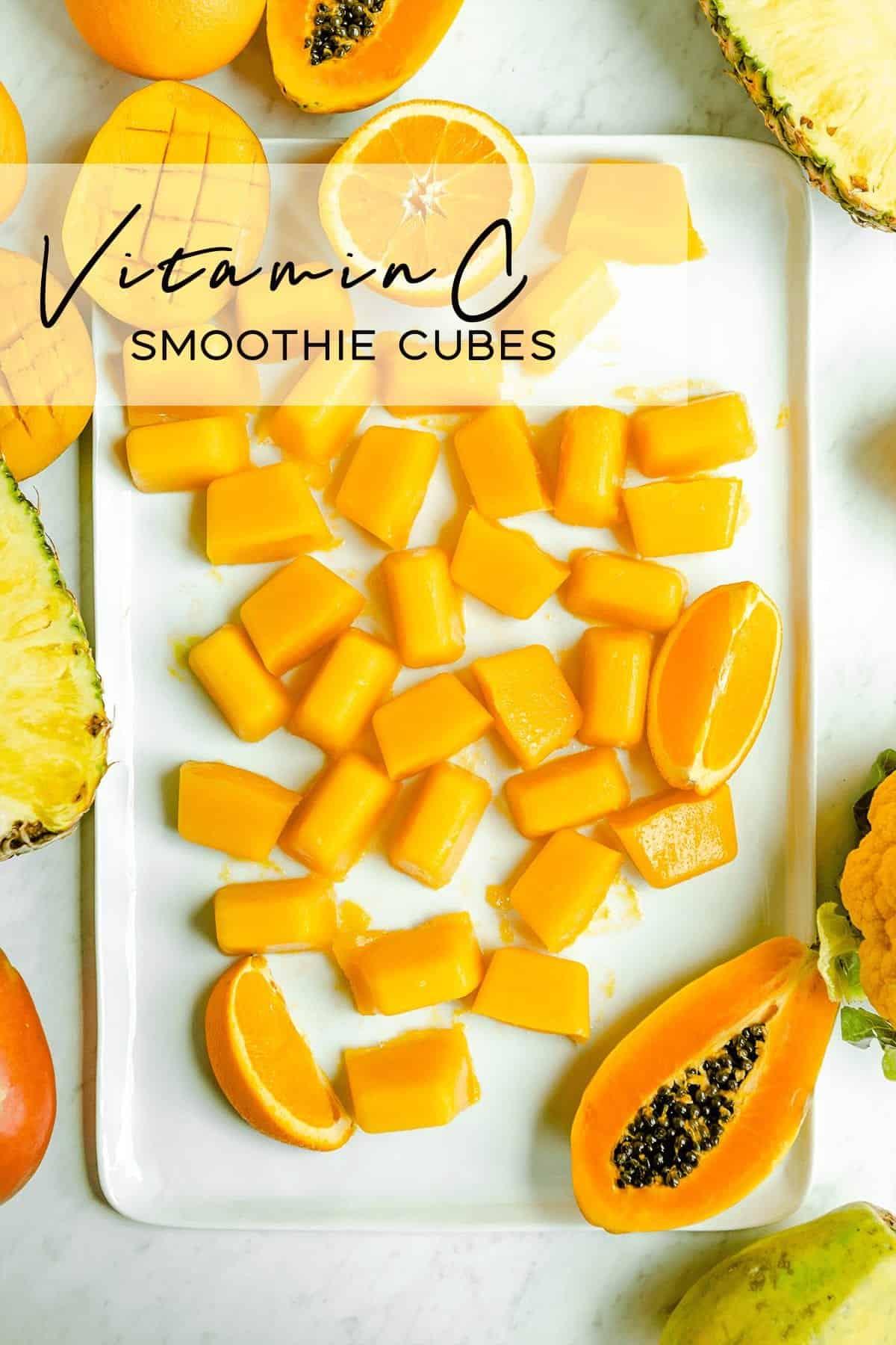 Vitamin C smoothie cubes