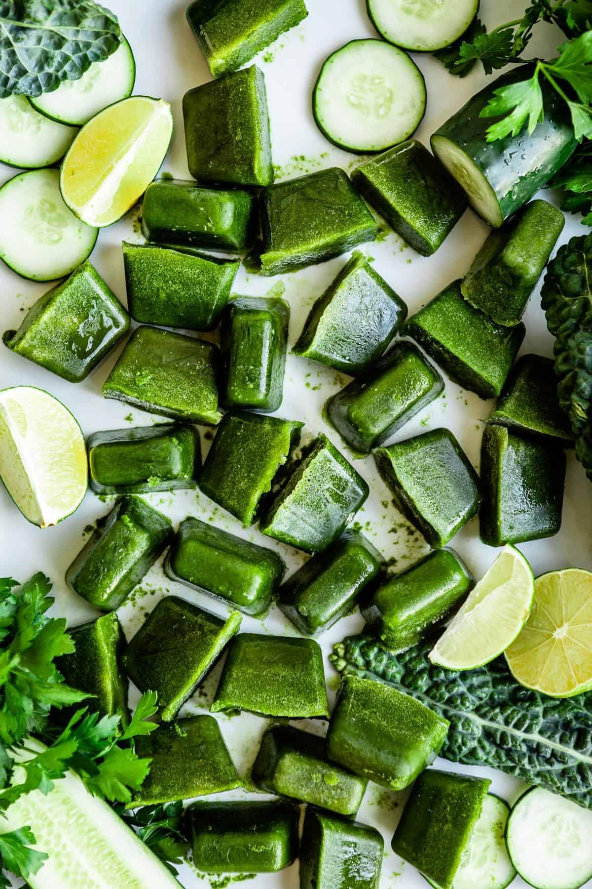 Alkaline boosting smoothie cube recipe