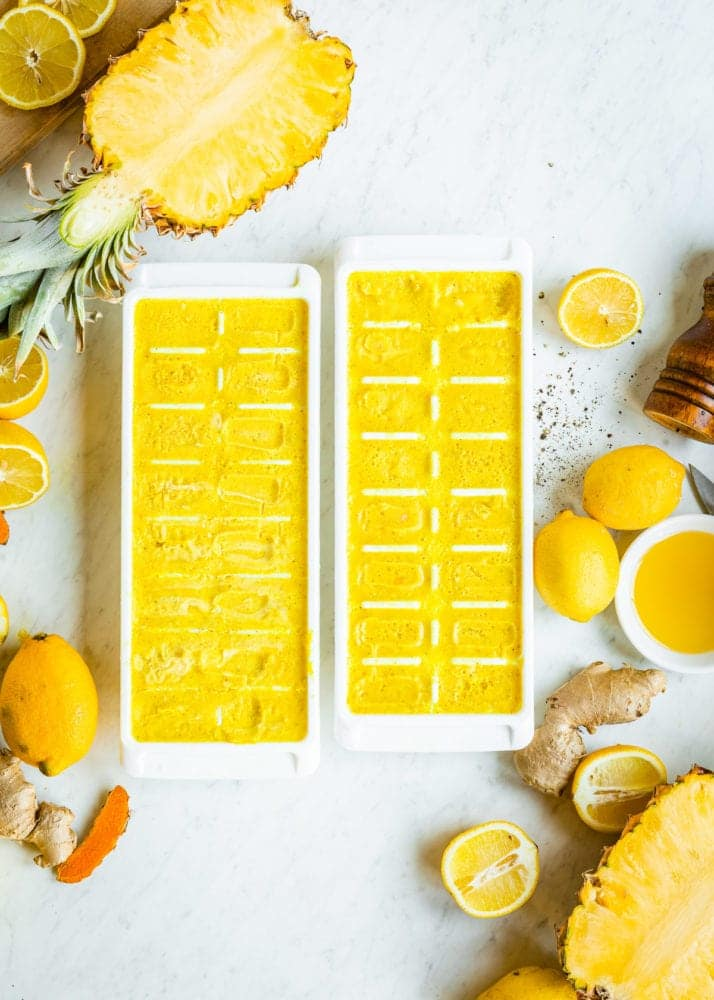 Turmeric Anti-Inflammatory Smoothie Cubes | SimpleGreenSmoothies.com
