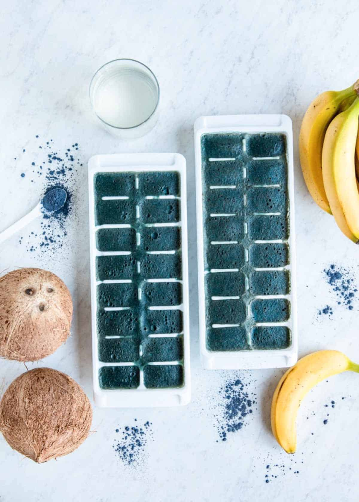 Electrolyte-rich homemade cubes for smoothies