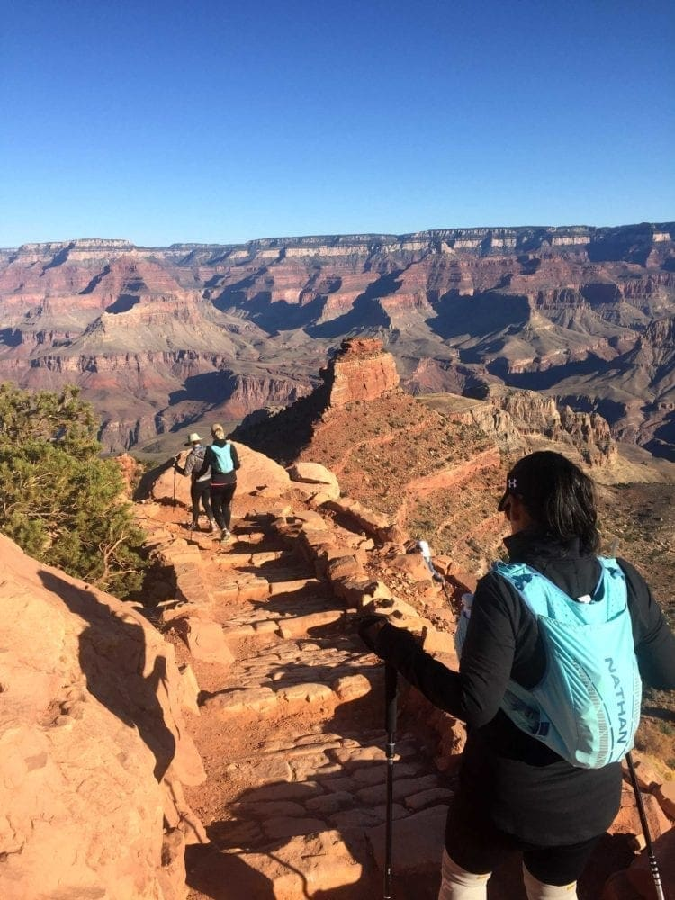 View from South Kaibab trail of the Grand Canyon.