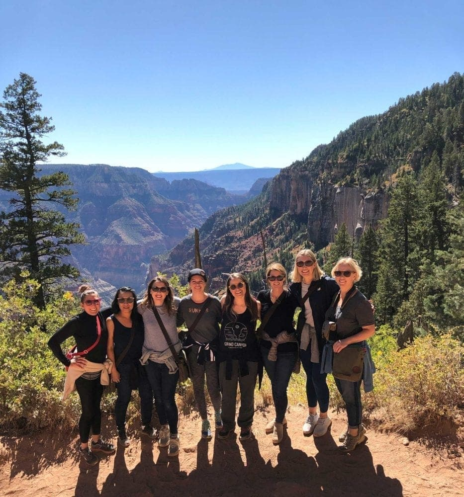 Assessing the Grand Canyon trail conditions the day before