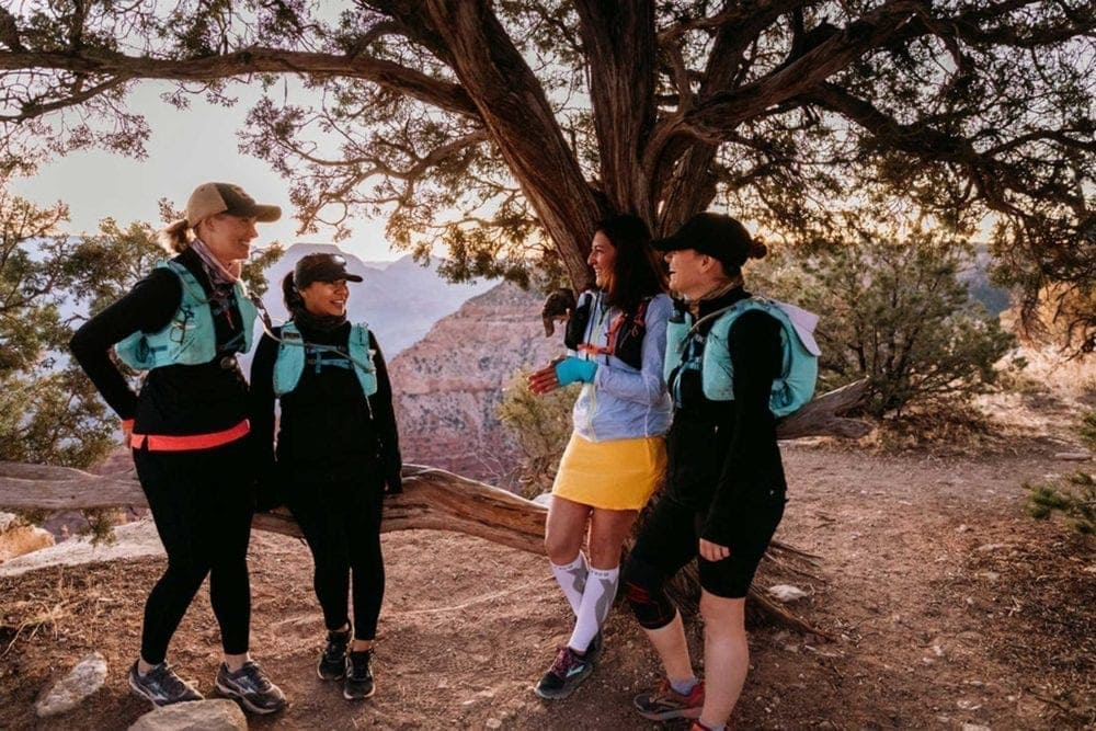 Preparing to hike the Grand Canyon rim to rim