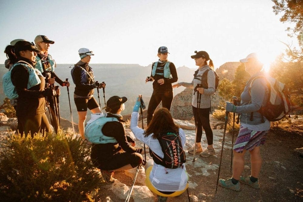 Grand Canyon pre-hike briefing before rim to rim