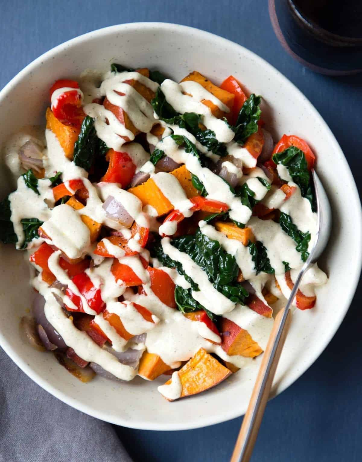 Hemp hearts veggie bowl recipe