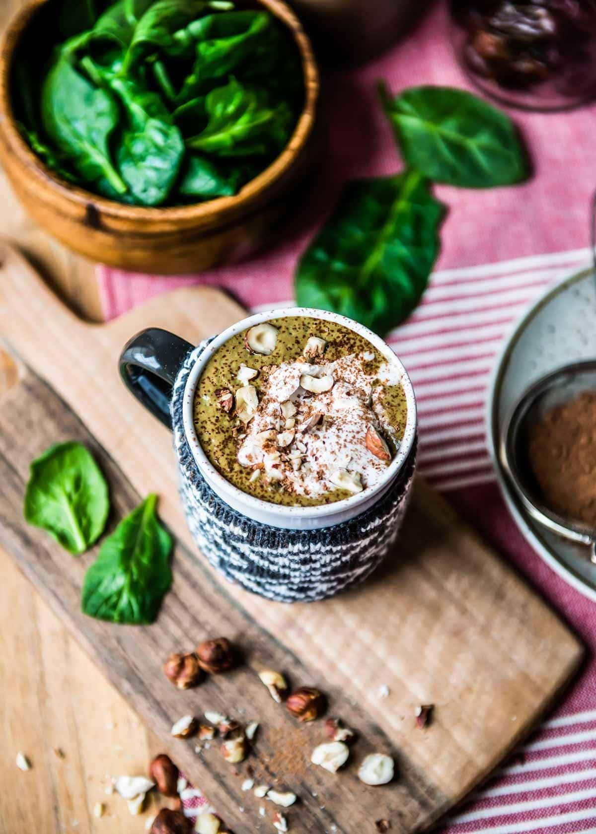 hazelnut hot chocolate smoothie