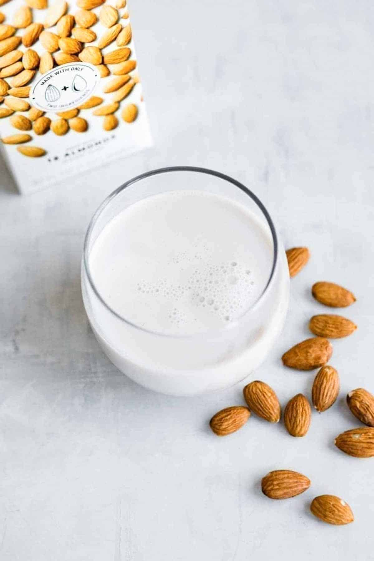 elmhurst is a delicious brand of almond milk